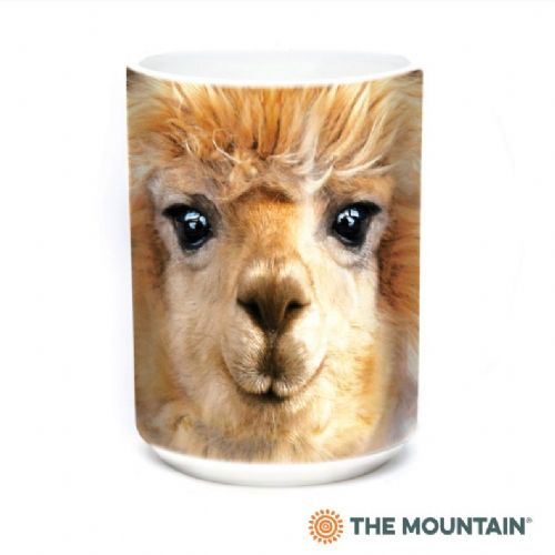 Big Face Alpaca Ceramic Mug | The Mountain®